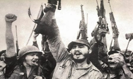 ¿Armas para que? Fidel Castro knew quite well. (Photo from GUNS Magazine, March 1959 issue)