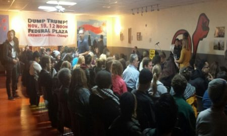 Chicago ANSWER meeting (Photo credit: Michael Volpe/The Daily Caller)