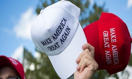 NEWTOWN, PA - OCTOBER 21: A vendor sells hats to supporters before a campaign rally for Republican presidential nominee Donald Trump on October 21, 2016 in Newtown, Pennsylvania. Trump and Democratic presidential nominee Hillary Clinton continue to campaign as Election Day nears. (Photo by Jessica Kourkounis/Getty Images)