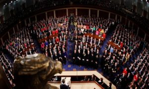 U.S. President Barack Obama speaks during his State of the Union address to a joint session of Congress on Capitol Hill in Washington, January 25, 2011. REUTERS/Jim Young