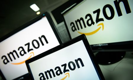 A picture shows the logo of the online retailer Amazon dispalyed on computer screens in London on December 11, 2014. Online retail giant Amazon scored its first ever Golden Globe nominations  -- a breakthrough in its bid to catch up with streaming pioneer Netflix. AFP PHOTO / LEON NEAL        (Photo credit should read LEON NEAL/AFP/Getty Images)