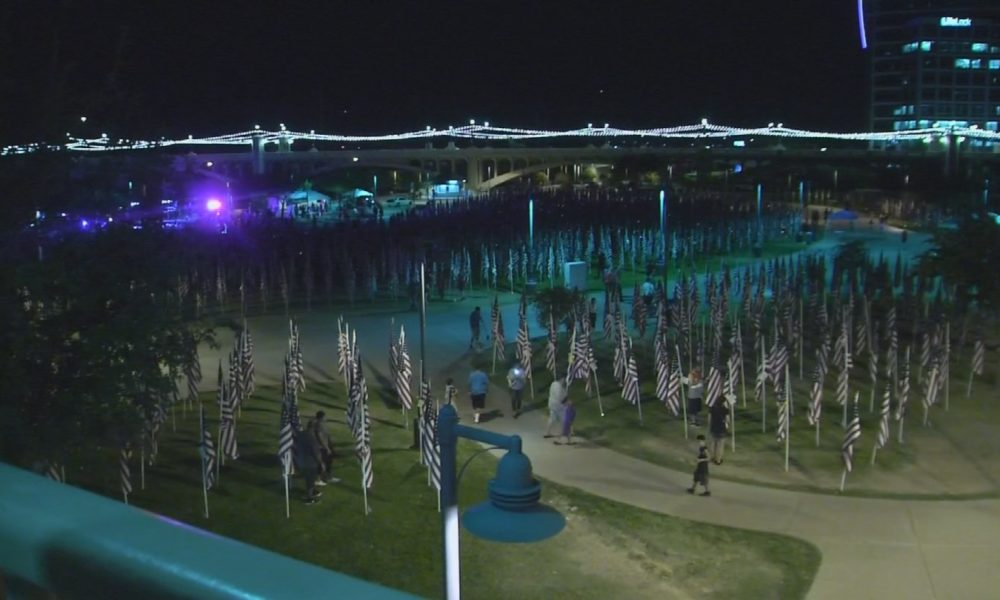 While One Soldier Disrespects US, Another Salutes 3k Flags On 9/11