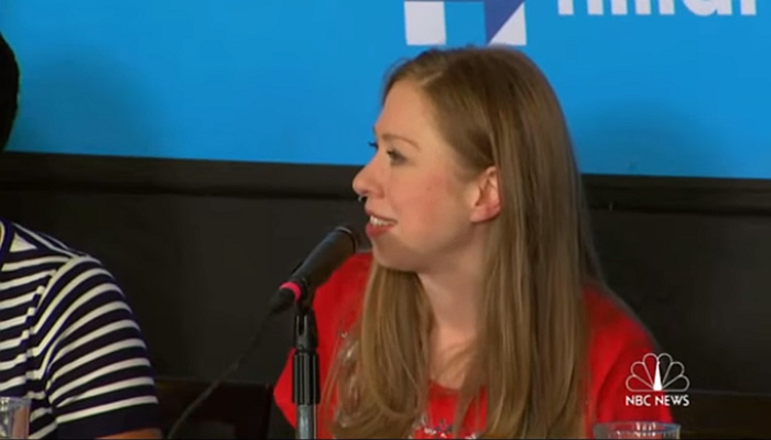 Guy Asks Chelsea Clinton a Question, and Apologizes For Being a Man [VIDEO]