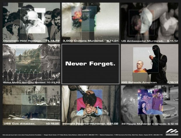 Never Forget Project poster (Photo: Young America's Foundation)