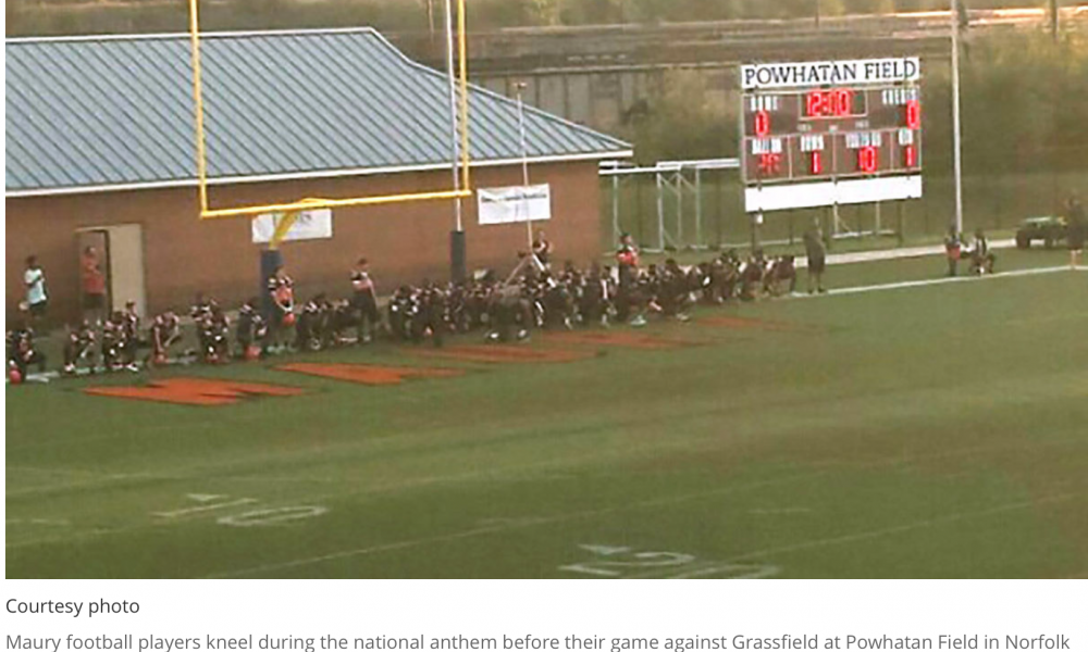 [VIDEO] HS Coach and School Allow Football Team To Disrespect The US