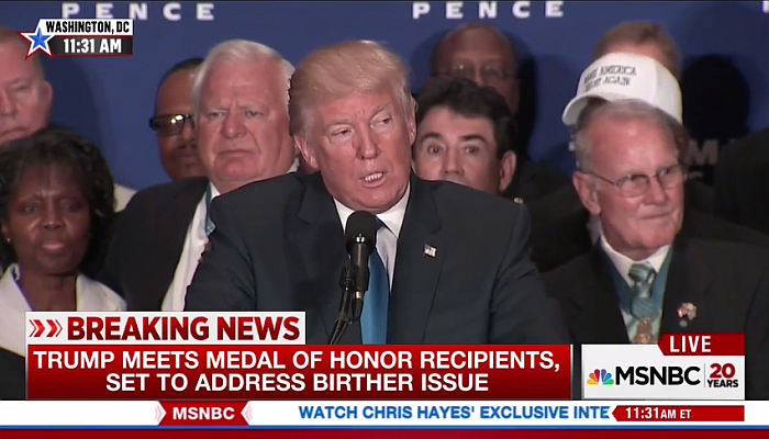 Media Outraged After Trump Tricks Them to Cover Military Hero Endorsements
