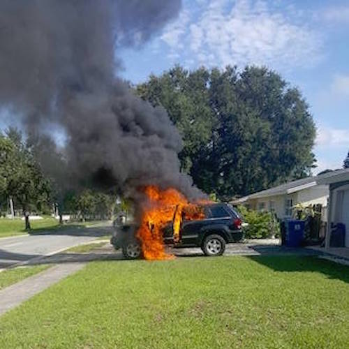 Mans Jeep Explodes Into Flames After Cellphone Catches Fire, Manufacturer Issues Recall