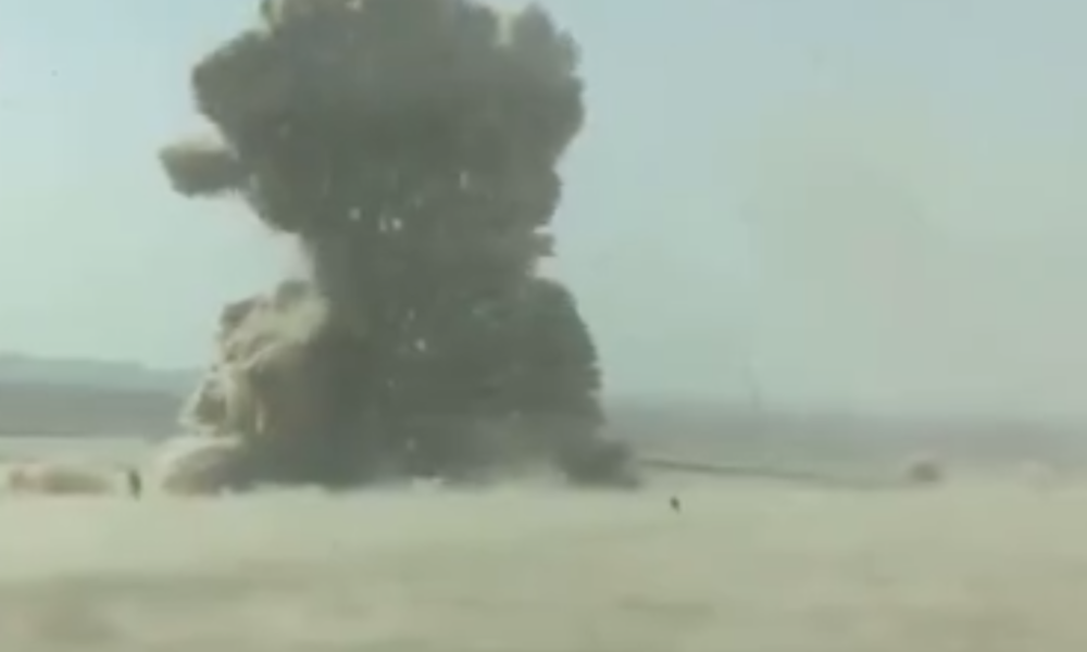 [WATCH] ISIS Suicide Bomber Turned Into Tiny Particles and Smoke By Peshmergas Rocket