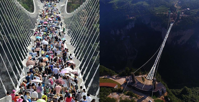 After Safety Issues The Worlds Longest and Highest GLASS Bridge Opens