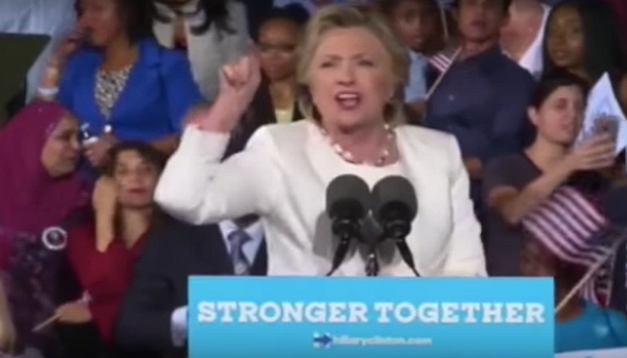 "[WATCH] Hillary's Reaction When A Rally Protester Yelled ""Bill Clinton Is a RAPIST!"""
