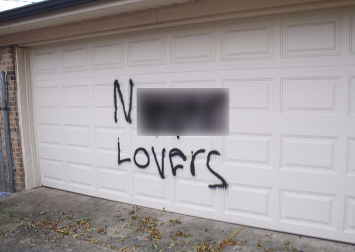 "Busted Hate Crime Hoax: Man Paints ""N*GGER LOVERS"" On His Own Garage, Then Sets His Truck On Fire"