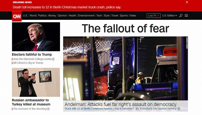 CNN Blames 'Rightwing Assault On Democracy' For Berlin Terror Attack