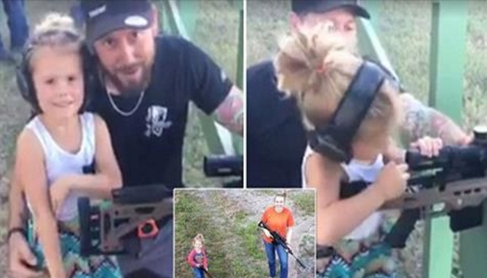 Dad Teaches 4-Year-Old Daughter How to Shoot, Liberals Are FLIPPING OUT On Him [VIDEO]