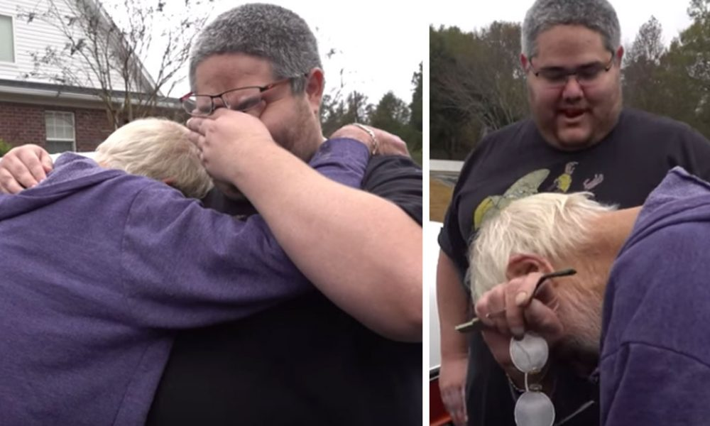 [VIDEO] Father Breaks Down As Son Hands Him Keys To Dream Car