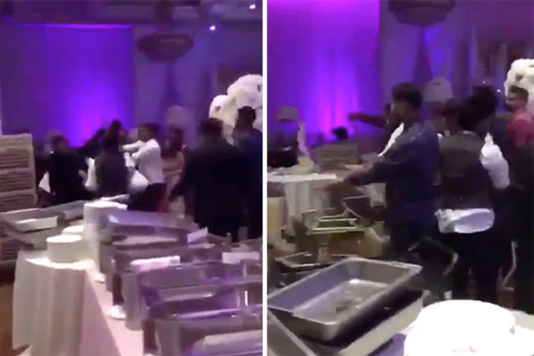 [VIDEO] Wedding Turned To All Out Brawl After Brides EX Shows Up Handing Out Nude Photos To Wedding Guests