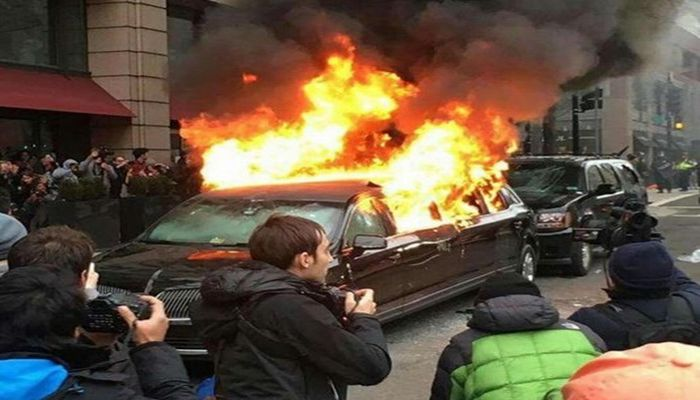 That DC Limo Trump Protesters Torched? It Belonged To A Muslim Immigrant