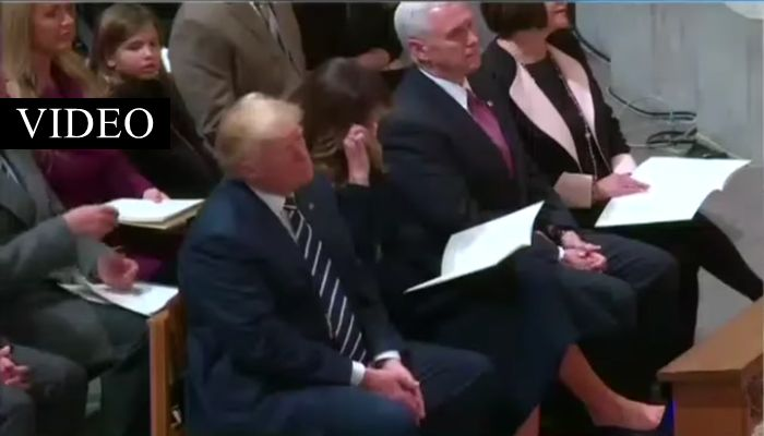 The Trump's Arrive At National Prayer Service, Everyone Notices Instantly What Melania Does