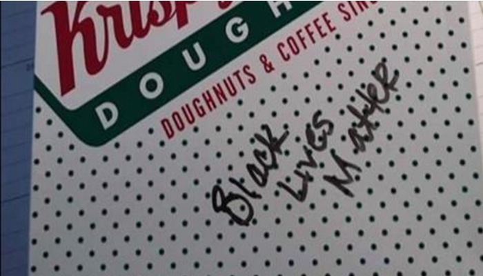 """Krispy Kreme Employee Writes """"BLACK LIVES MATTER"""" on Officer's Order [VIDEO]"""