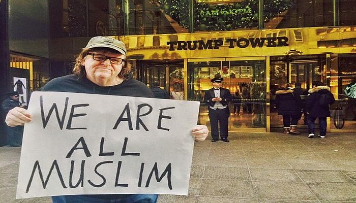 """Michael Moore Says Trump Is """"Unhinged"""", Plans 100 Days of Protest [VIDEO]"""
