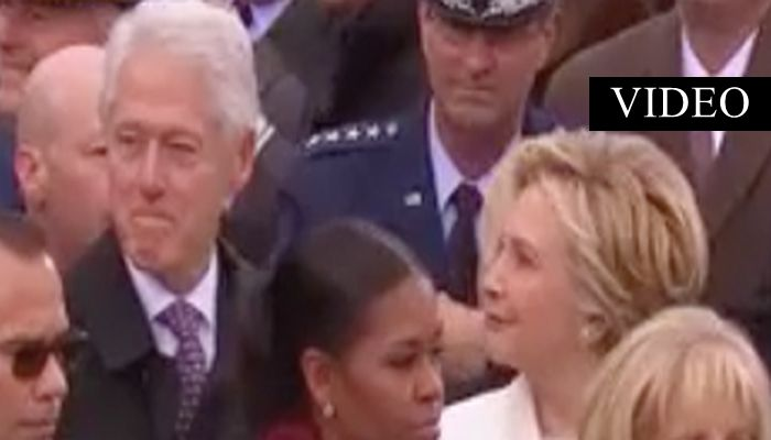 Hillary Catches Bill Staring At Something — or Someone! [VIDEO]