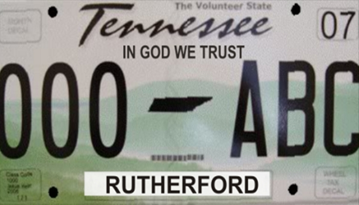 """New Tennessee Legislation Would Put """"IN GOD WE TRUST"""" On Every License Plate"""
