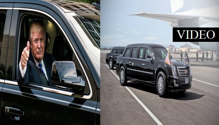 Here Is What Trump's Limo Is Equipped With, Protesters Better Think Twice