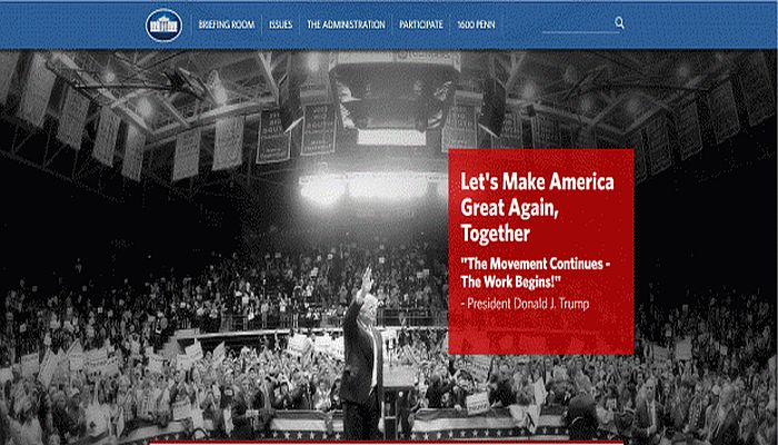 Trump's Takeover of The White House Website Was SWIFT and RUTHLESS