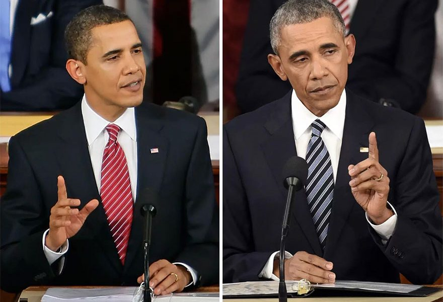 10 [PHOTOS] of Presidents Before and After Serving Their Terms