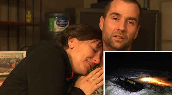 Husband Dives 3 Times To Save His Wife Trapped Under An Ice-Covered Lake