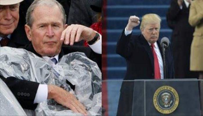 George W. Bush Had 5 Words To Describe Trump's Inauguration Speech