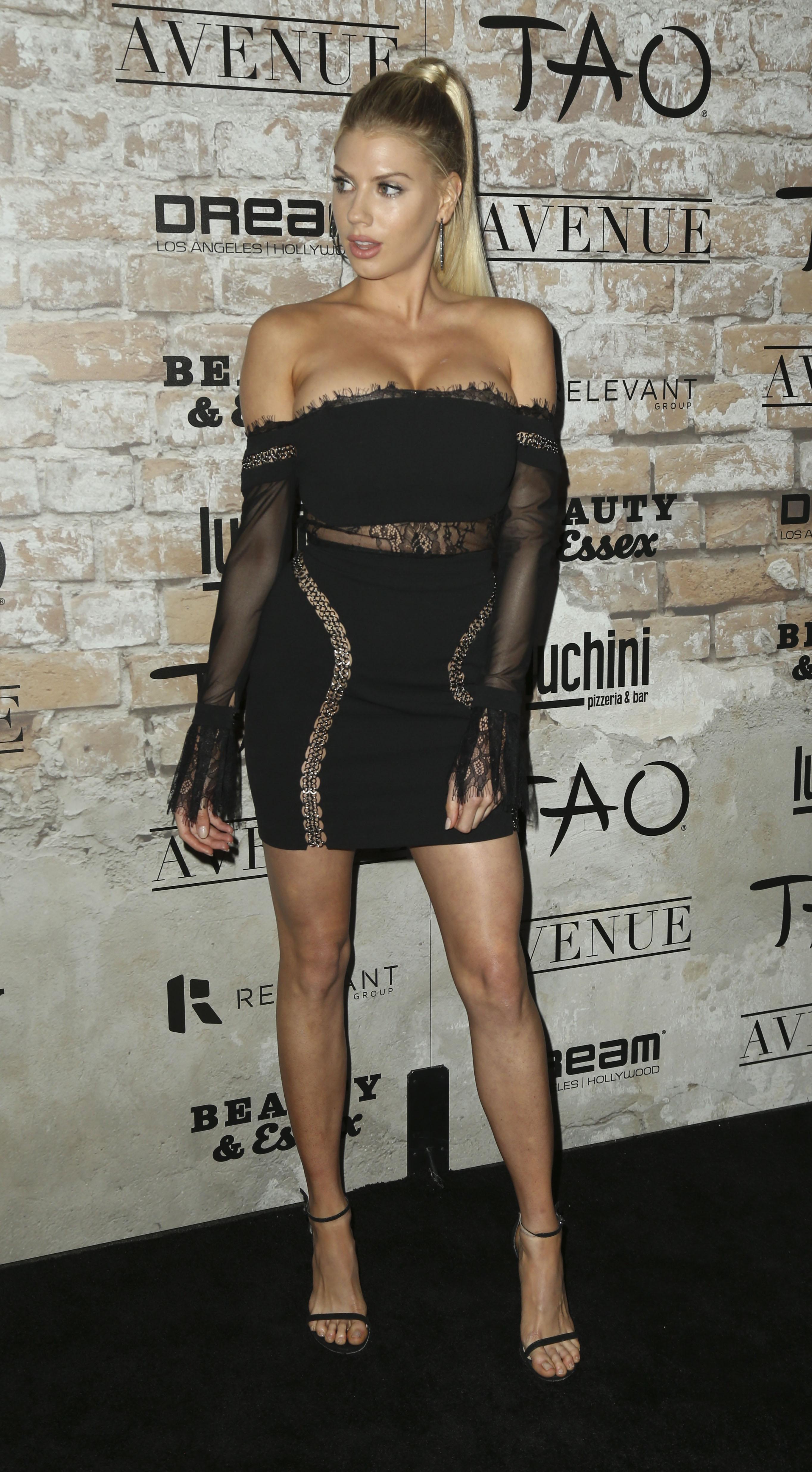 Charlotte McKinney at TAO Beauty & Essex Avenue And Luchini LA Grand Opening
