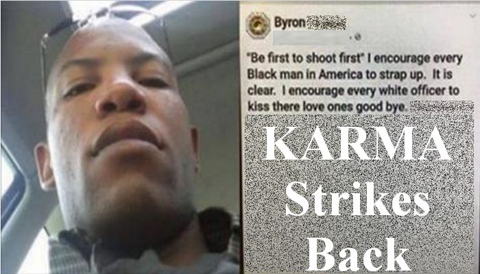 Black Man Orders Violence Against White Cops And Their Families, Then KARMA Shows Up