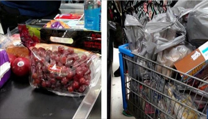 Man's Facebook Post Comparing His Shopping Cart To The Person Next To Him Goes Viral