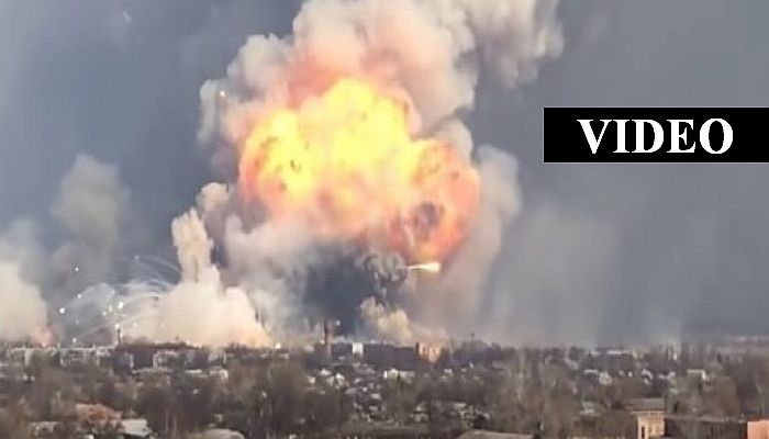 HOLY SH*T! A Warehouse Containing ALL THE AMMO IN UKRAINE Just Exploded, The Video Is INSANE