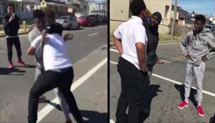 Video Of Two Teens In Street Fight Goes Viral After What Man Did To Stop It
