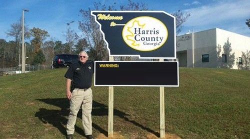 Georgia Sheriff Is In HOT WATER After Posting A Sign That Has Since Gone Viral [PHOTO]