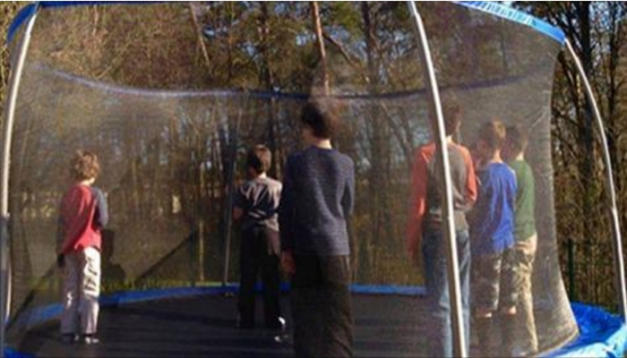 Group Of Boys Suddenly Stop Jumping On Trampoline — Then Mom Realizes Why