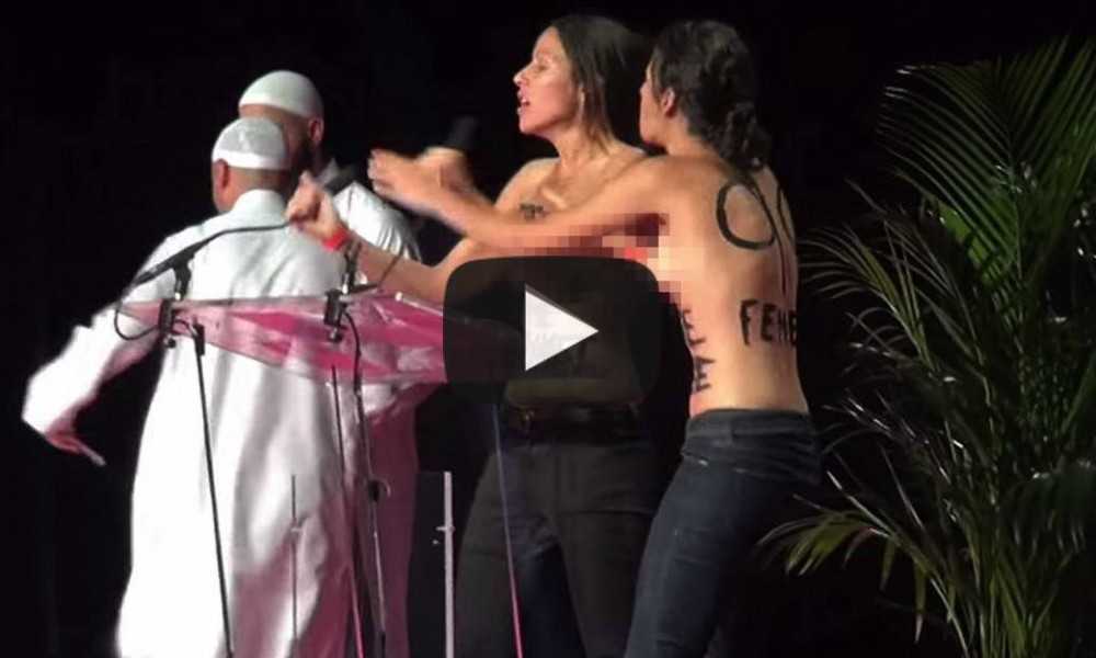 Feminists Get BEATEN By Muslims After Toplessly Crashing Their Convention