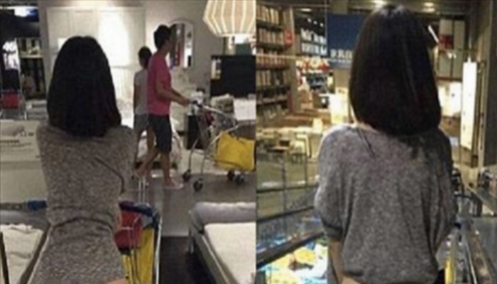 Photographs Of Half-Naked Woman In IKEA Go Viral, Sparking Debate [PHOTOS]