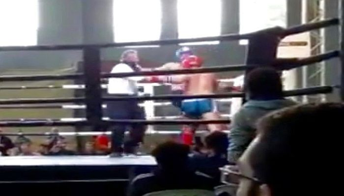 Referee Gets Knocked Out Cold By Wild Punch in Martial Arts Fight