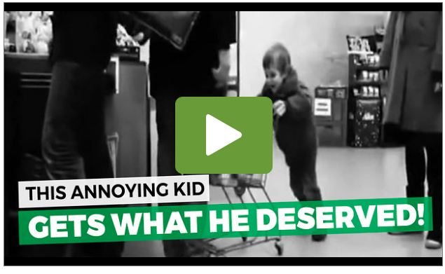 Misbehaving Boy In Grocery Store Gets Taught A Lesson [VIDEO]