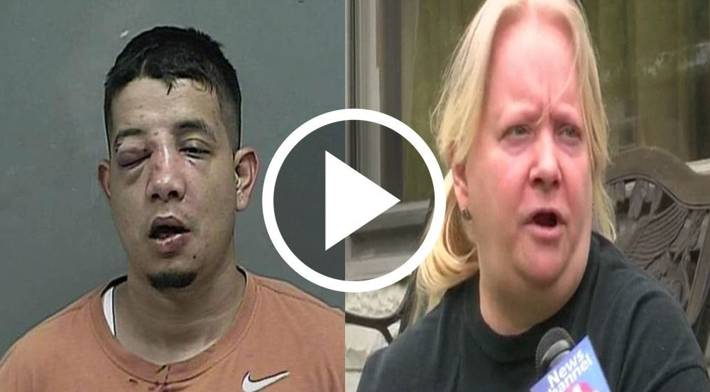 Robber Badly Beaten By A 4ft 11in Woman As He Tried To Break Into Home [VIDEO]