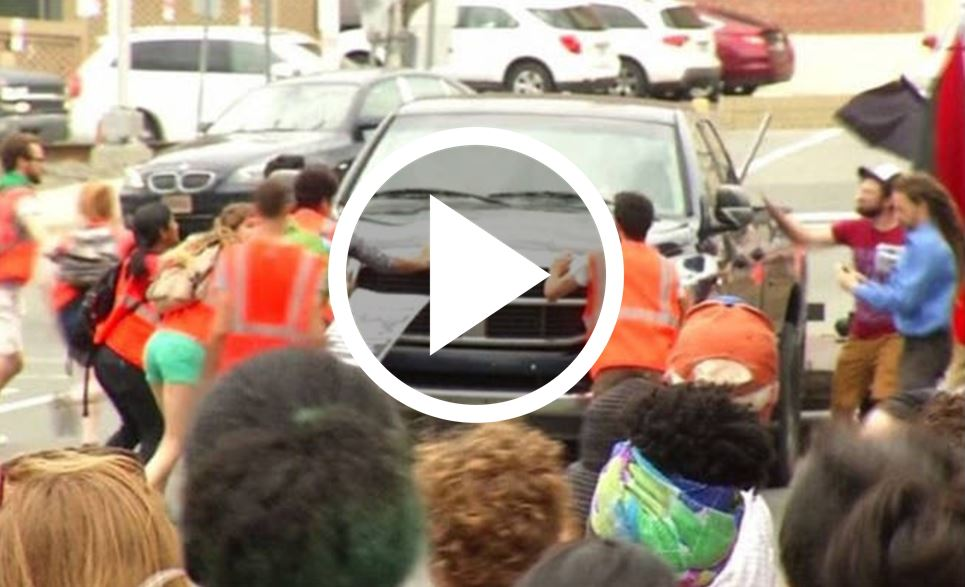 Here Is Why The Truck Driver Won't Be Charged After Plowing Through NC Protesters [WATCH]