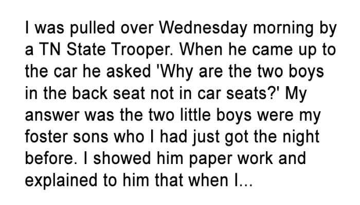 She Was Worried About Getting A Ticket, Never Imagining What He Was About To Say