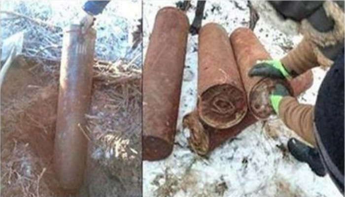 Men Unearth Strange Tubes Buried In The Forest, Then They Discover What's Inside [PHOTOS]