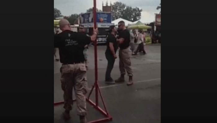 Liberal Hippie Learns What Happens When You SPIT In A Marine's Face [WATCH]