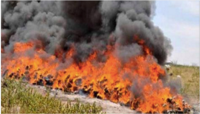 Law Enforcement Officials Realize Their Mistake After Setting 3 TONS Of Pot On Fire [PHOTOS]
