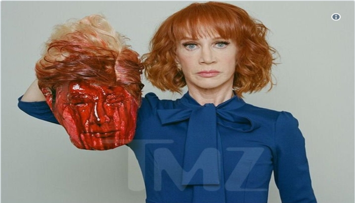 Kathy Griffin Holds Up Donald Trump's Severed Head in Photoshoot