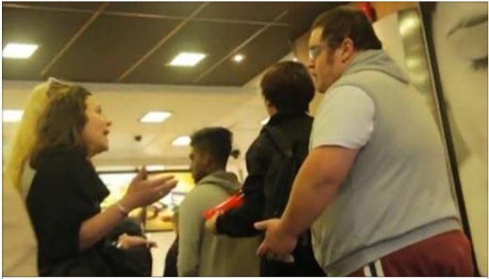 Girl In McDonald's Yells At Obese Man, Then She Gets A Major Dose Of Karma [VIDEO]
