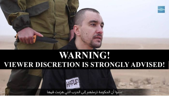 Graphic Video Footage Shows ISIS Beheading Russian Spy